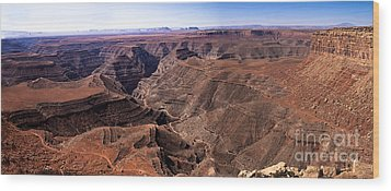 Panormaic View Of Canyonland Wood Print by Robert Bales