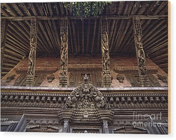 Panote Temple Struts - Nepal Wood Print by Craig Lovell