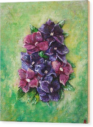 Pansy Expression Wood Print