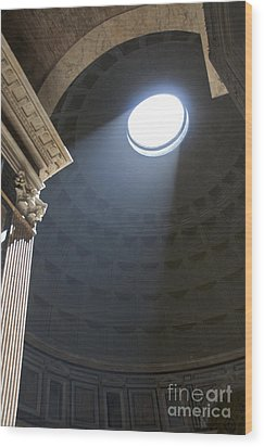 Pantheon. Rome Wood Print by Bernard Jaubert