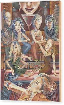 Paparazzi Paradise Wood Print by Lisa Hershman