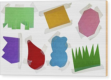 Paper Multi-colored Blank Slices  For Notes Wood Print by Aleksandr Volkov