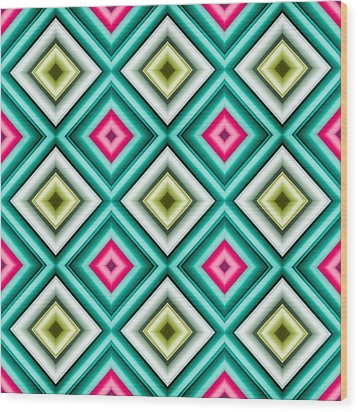 Paper Symmetry 2 Wood Print by Hakon Soreide