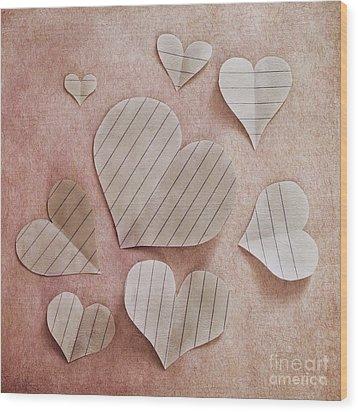 Papier D'amour Wood Print by Priska Wettstein