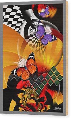 Papillon Pachouli Wood Print by Satish Verma