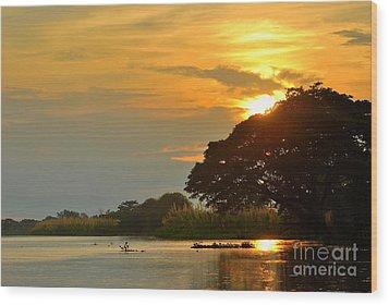 Papua New Guinea Sunset Wood Print