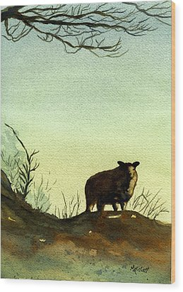 Parable Of The Lost Sheep Wood Print by Marsha Elliott
