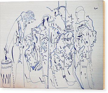 Parable Of The Ten Virgins Wood Print by Gloria Ssali