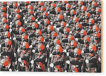 Parade March Indian Army Wood Print by Sumit Mehndiratta