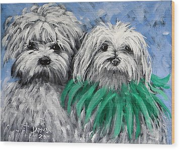 Parade Pups Wood Print by Jeanette Jarmon