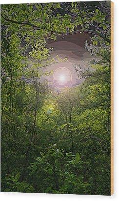 Paradise At Dawn Wood Print by Nina Fosdick