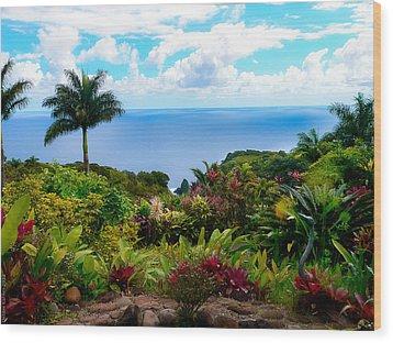 Paradise Found Wood Print by Debbie Karnes