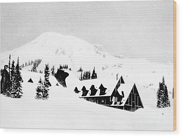 Paradise Inn Buried In Snow, 1917 Wood Print by Science Source