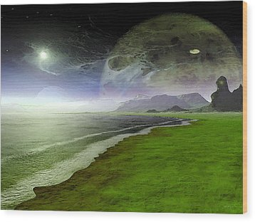 Paranormal Activity Wood Print by Wayne Bonney