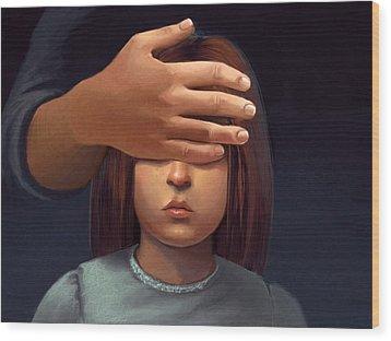 Paranormal Girl Wood Print by Michael Keene