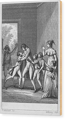 Parents And Children, 1800 Wood Print by Granger