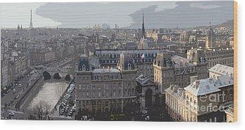 Paris 01 Wood Print by Yuriy  Shevchuk