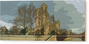 Paris 03 Wood Print by Yuriy  Shevchuk