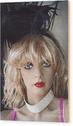 Paris Female Mannequin Art Deco Wood Print by Kathy Fornal