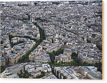 Paris From Above 2 Wood Print by Edward Myers