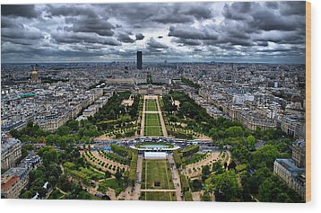Paris From Above Wood Print by Edward Myers