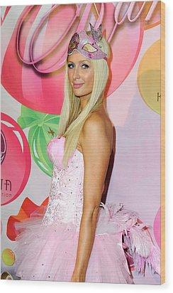 Paris Hilton At Arrivals For 6th Annual Wood Print by Everett