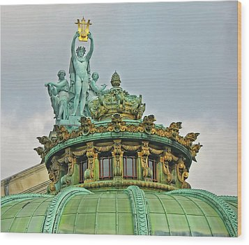 Wood Print featuring the photograph Paris Opera House Roof by Dave Mills