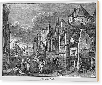 Paris: Street, 1830s Wood Print by Granger