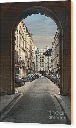 Wood Print featuring the photograph Paris Street by Kim Wilson