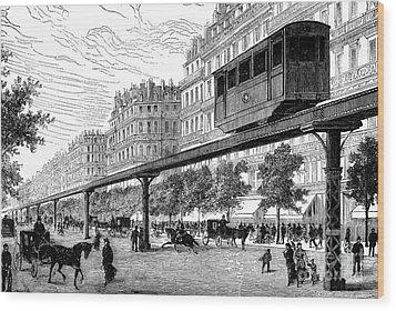 Paris: Tramway, 1880s Wood Print by Granger