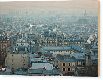 Paris View From Sacre-coeur Wood Print by Thanks for visiting my work !!