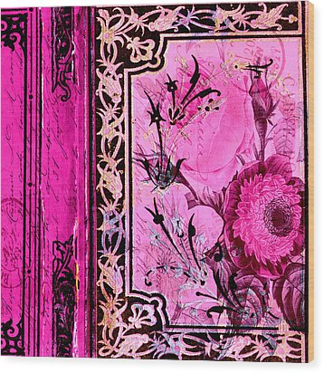Parisian Memories Wood Print by Bonnie Bruno