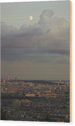 Parisian Moon Wood Print