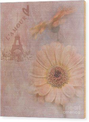 Parisian Oooo La La Wood Print by Betty LaRue