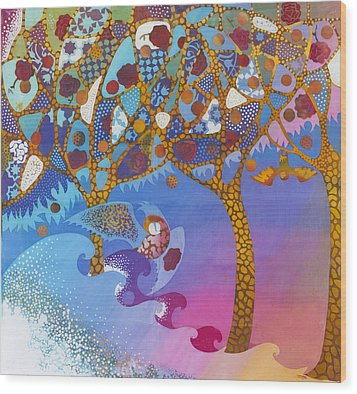 Park Guell. General Impression. Wood Print by Kate Krivoshey