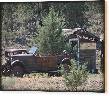 Parked At The Trading Post Wood Print by Athena Mckinzie