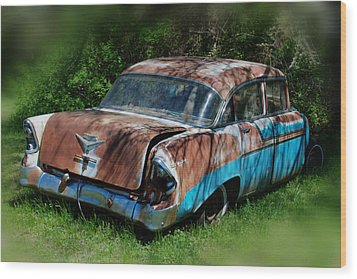 Parked Wood Print by Lisa Moore