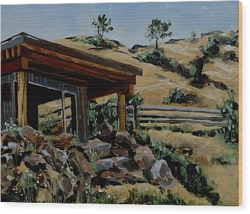 Park's Sauna Livingston  Mt Wood Print