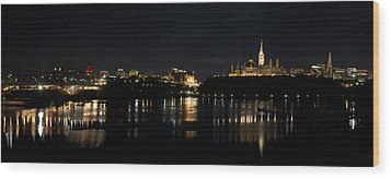 Wood Print featuring the photograph Parliament Hill Ottawa Canada by JM Photography