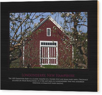 Parmenter Barn Wood Print by Jim McDonald Photography