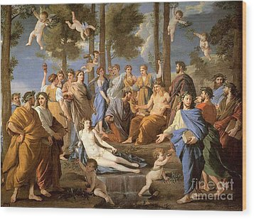 Parnassus, Apollo And The Muses, 1635 Wood Print by Photo Researchers
