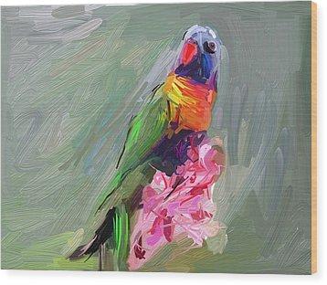 Parrot Wood Print by Bogdan Floridana Oana