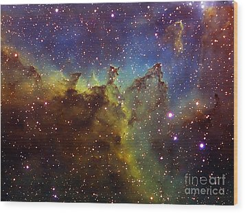 Part Of The Ic1805 Heart Nebula Wood Print by Filipe Alves