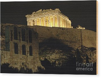 Parthenon Athens Wood Print by Bob Christopher