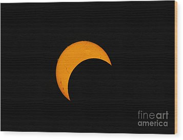 Partial Solar Eclipse Of 2012 Wood Print by Phillip Jones