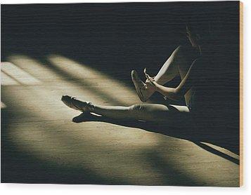 Partially Hidden In Shadow, A Ballet Wood Print by Robert Madden