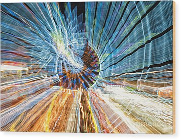 Particle Accelerator With Angel Wood Print