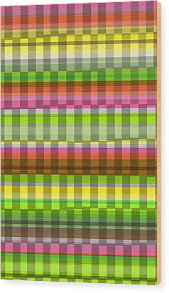 Party Stripe Wood Print by Louisa Knight