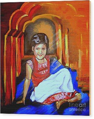 Parvati Wood Print by Tatjana Andre