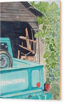 Pa's Truck Wood Print by Joan Zepf